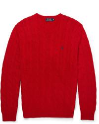 Pull torsadé rouge Polo Ralph Lauren