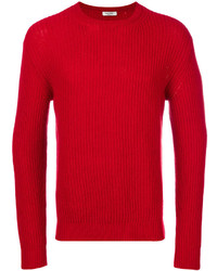 Pull torsadé rouge Valentino