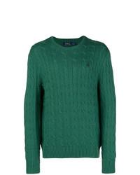 Pull torsadé vert foncé Polo Ralph Lauren