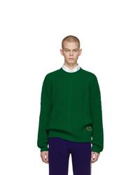 Pull torsadé vert Gucci
