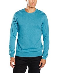 Pull turquoise Paul James Knitwear