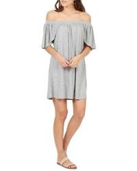 Robe à épaules dénudées gris