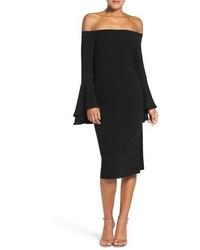 Robe à épaules dénudées noir