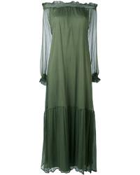 Robe à épaules dénudées olive P.A.R.O.S.H.