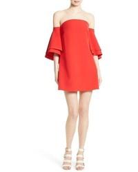 Robe à épaules dénudées rouge
