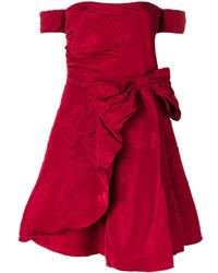 Robe à épaules dénudées rouge RED Valentino