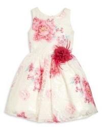 Robe à fleurs blanche