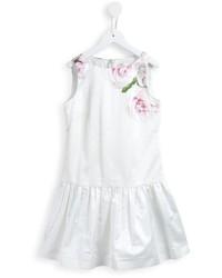 Robe à fleurs blanche MonnaLisa