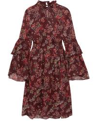Robe à fleurs bordeaux IRO