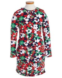 Robe à fleurs multicolore