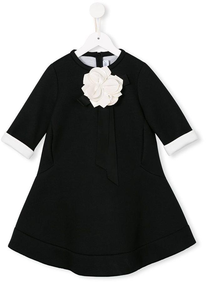 Robe à fleurs noire Simonetta