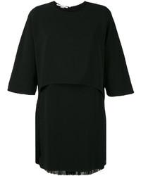 Robe à franges noire Stella McCartney