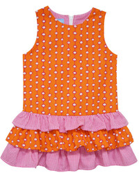 Robe á pois orange
