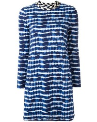 Robe à rayures horizontales bleue marine Tory Burch