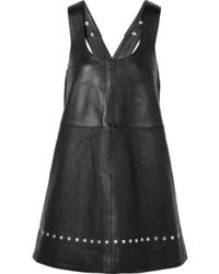 Robe chasuble en cuir noire ALEXACHUNG