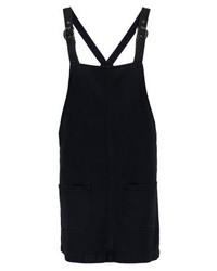 Robe chasuble en denim noire Glamorous
