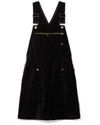 Robe chasuble en denim noire McQ Alexander McQueen