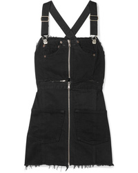 Robe chasuble en denim noire RE/DONE