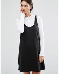 Robe chasuble noire Asos