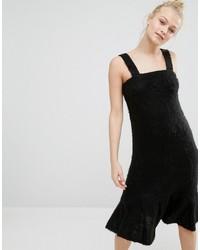 Robe chasuble noire Monki