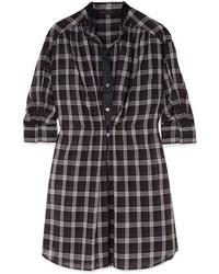 Robe chemise à carreaux noire Marc Jacobs
