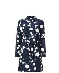 Robe chemise à fleurs bleu marine P.A.R.O.S.H.