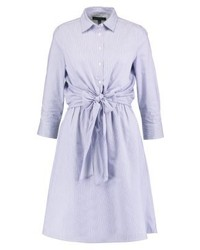 Robe chemise à rayures verticales blanche Banana Republic