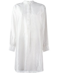Robe chemise à rayures verticales blanche Dusan