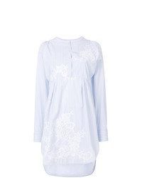 Robe chemise à rayures verticales blanche Ermanno Scervino