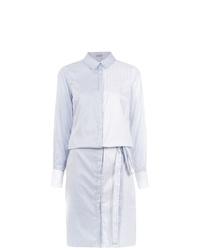 Robe chemise à rayures verticales bleu clair Tufi Duek