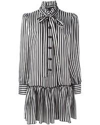 Robe chemise à rayures verticales noire Marc Jacobs