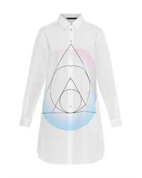 Robe chemise blanche et noire original 10215609