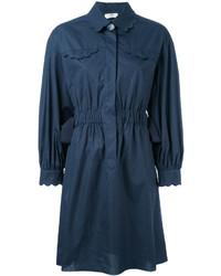 Robe chemise bleu marine Fendi