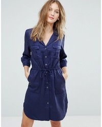 Robe chemise bleu marine French Connection