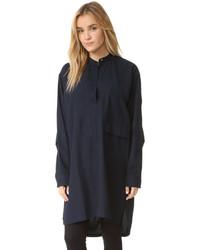 Robe chemise bleu marine Helmut Lang