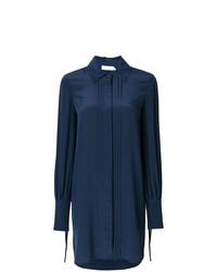 Robe chemise bleue marine Tory Burch