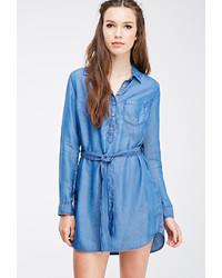 Robe chemise bleue original 10214913