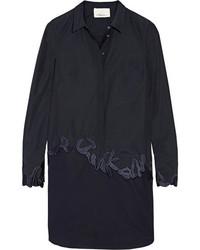 Robe chemise brodée bleu marine 3.1 Phillip Lim