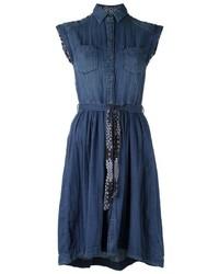 Robe chemise en denim bleue Diesel
