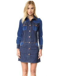 Robe chemise en denim bleue See by Chloe