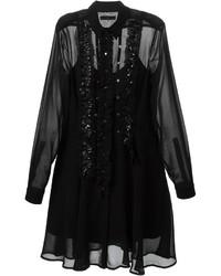 Robe chemise en dentelle noire Diesel