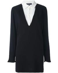 Robe chemise en soie noire Salvatore Ferragamo