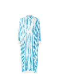 Robe chemise imprimée bleu clair Toogood