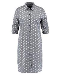 Robe chemise imprimée grise Expresso