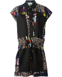 Robe chemise imprimée noire Jean Paul Gaultier
