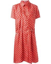 Robe chemise imprimée rouge Carven