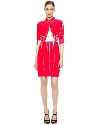 Robe chemise imprimée rouge Victoria Beckham