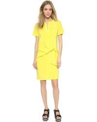 Robe chemise jaune