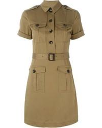 Robe chemise marron clair Burberry