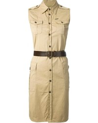 Robe chemise marron clair Dsquared2
